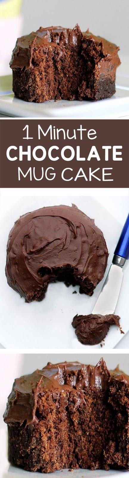 Minute Chocolate Caramel Mug Cake